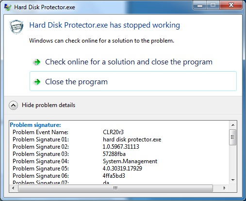Windows Application has stopped working in client Machine - Stack
