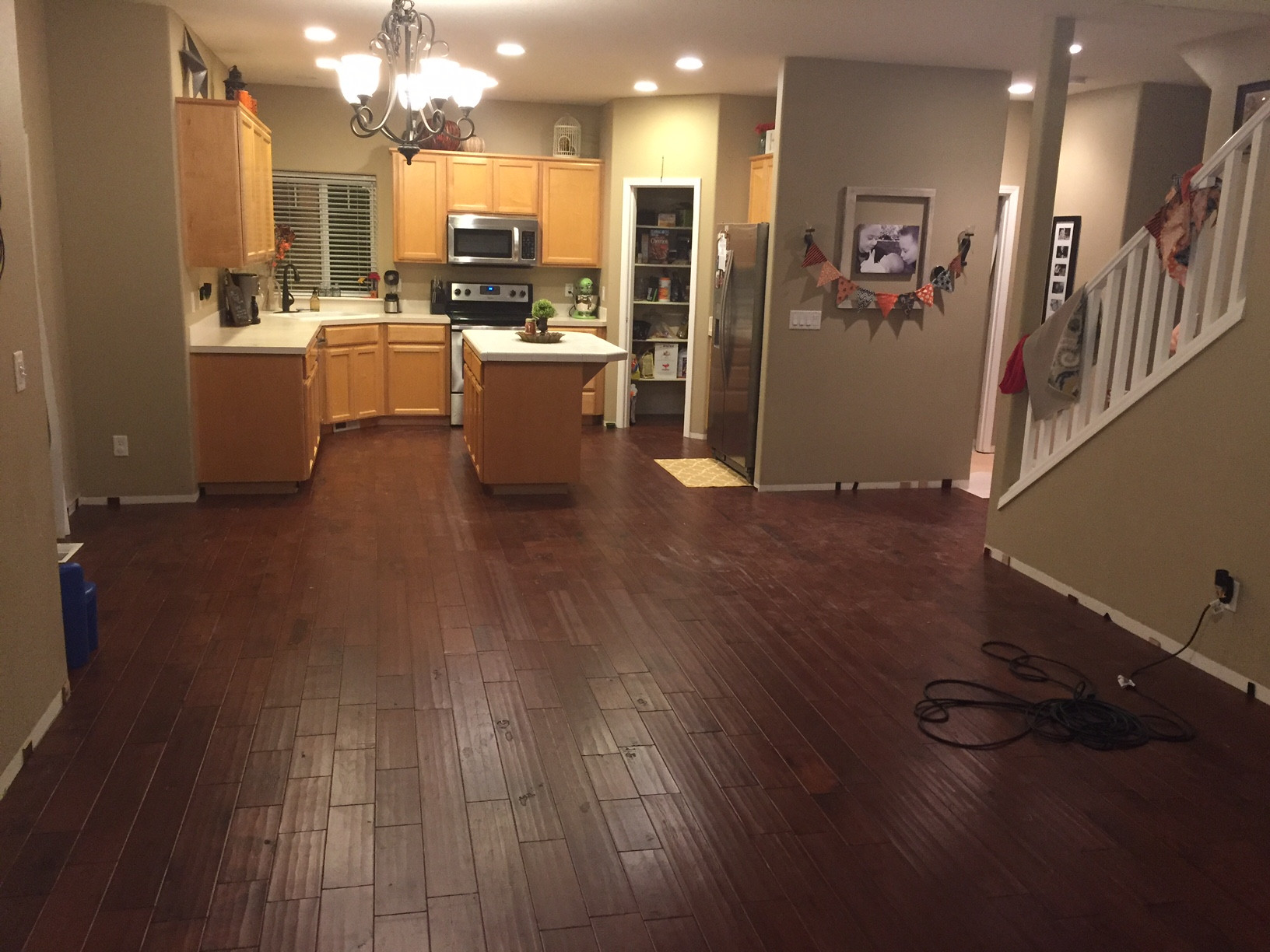 How Can I Secure Fasten A Half Installed Floating Engineered Hardwood Floor Home