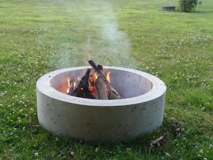 Fire Pit Pure Concrete Hollow Cylinder Home Improvement Stack Exchange