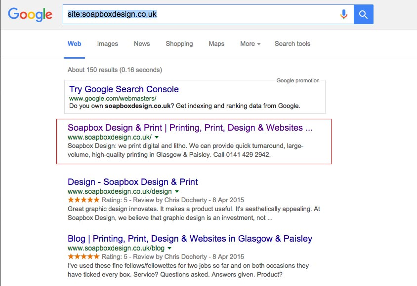 Homepage Rich Snippet Star Ratings not showing in Google SERP