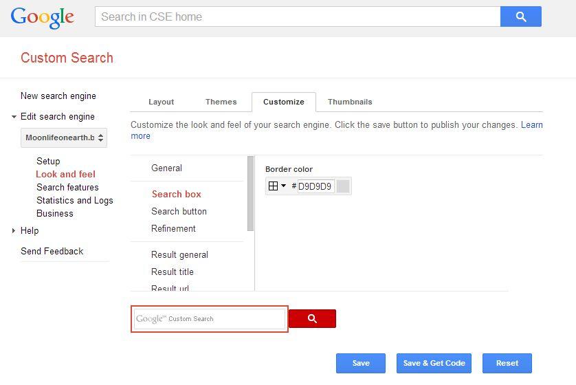 javascript google custom search with transparent background3 ways
