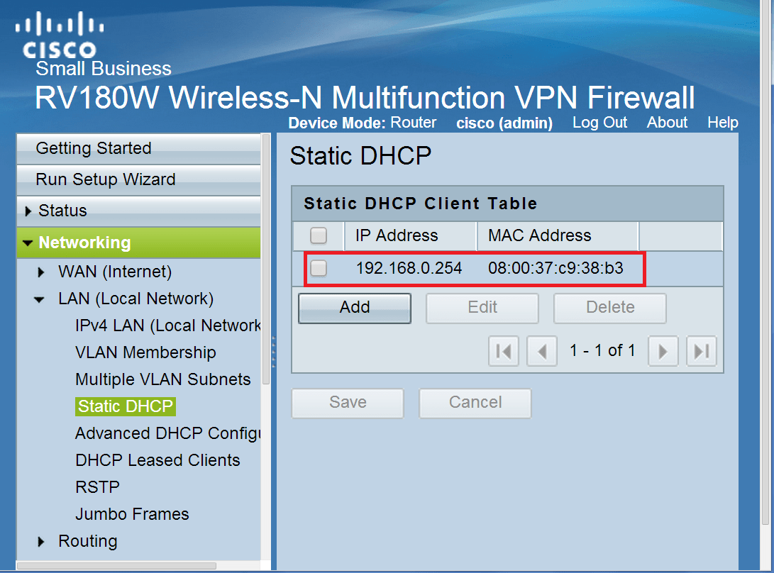 Cisco Shouldn39t We Exclude A Static Ip From The Dhcp