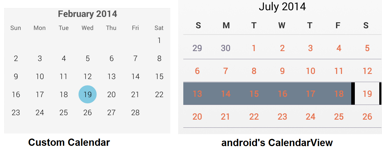Add Google Calendar Calendar Google Calendar Changing The Color Of Selected Dates In Androids