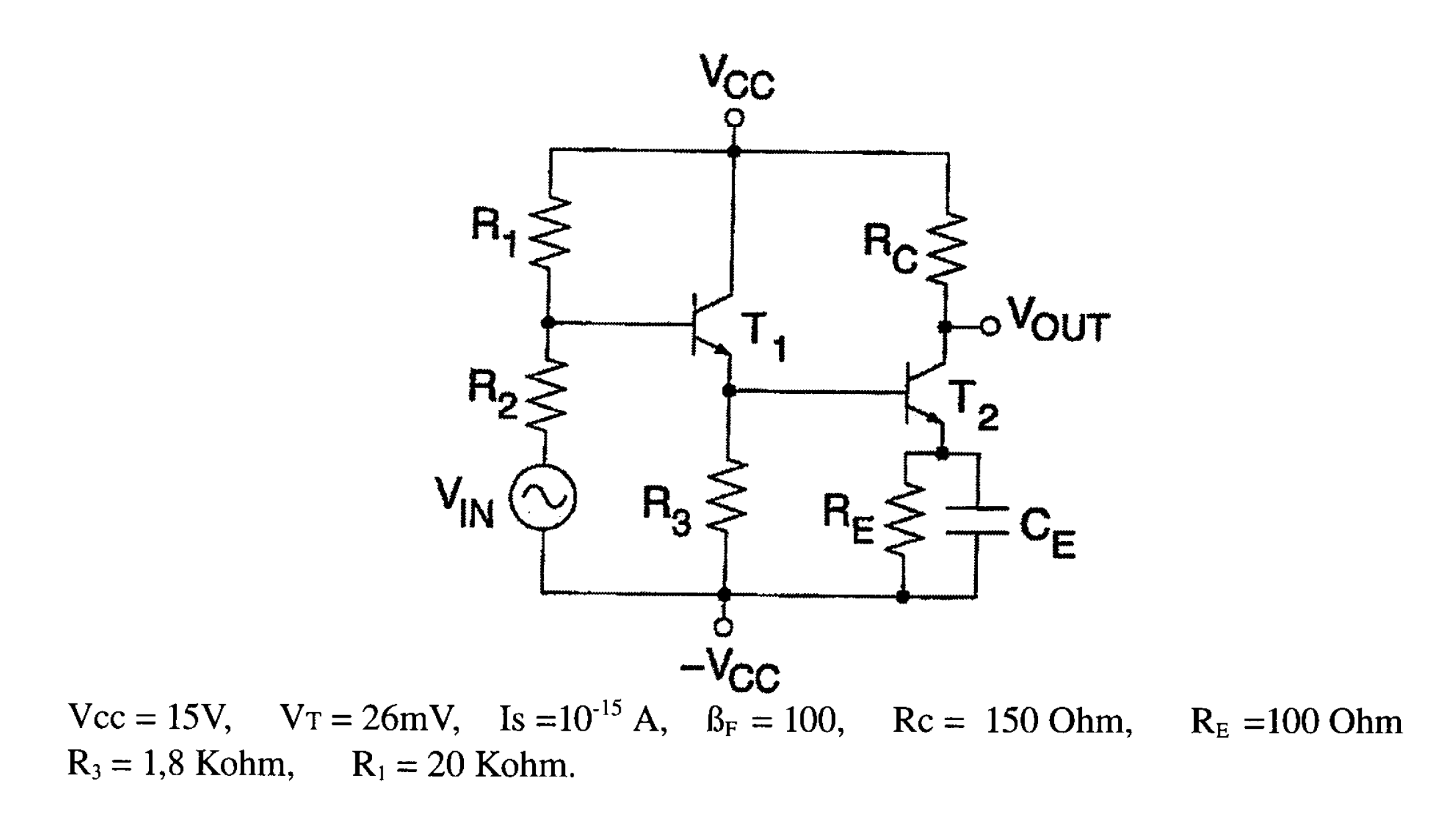 image for 2 purpose coupling diodes and bjts in the circuit below