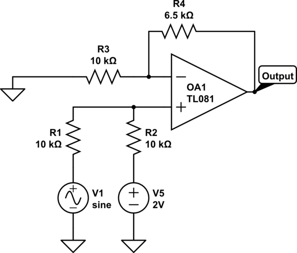 circuitlab op amp inverting summing amplifier