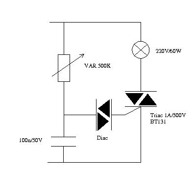 Discrete lamp dimmer circuit how to choose component values