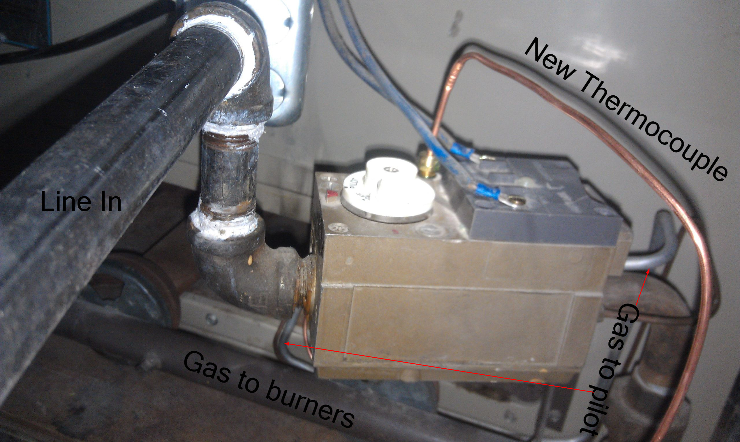 Gas Fireplace Pilot Light Out Furnace Pilot Won T Stay Lit After Replacing Thermocouple Home