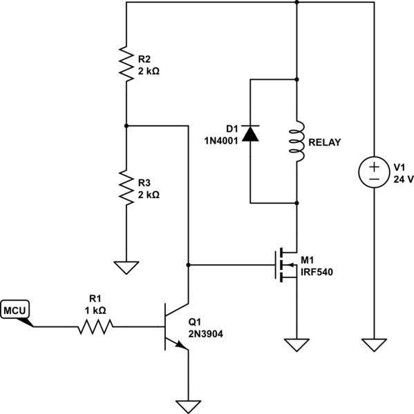 transistor high side switch circuit diagram