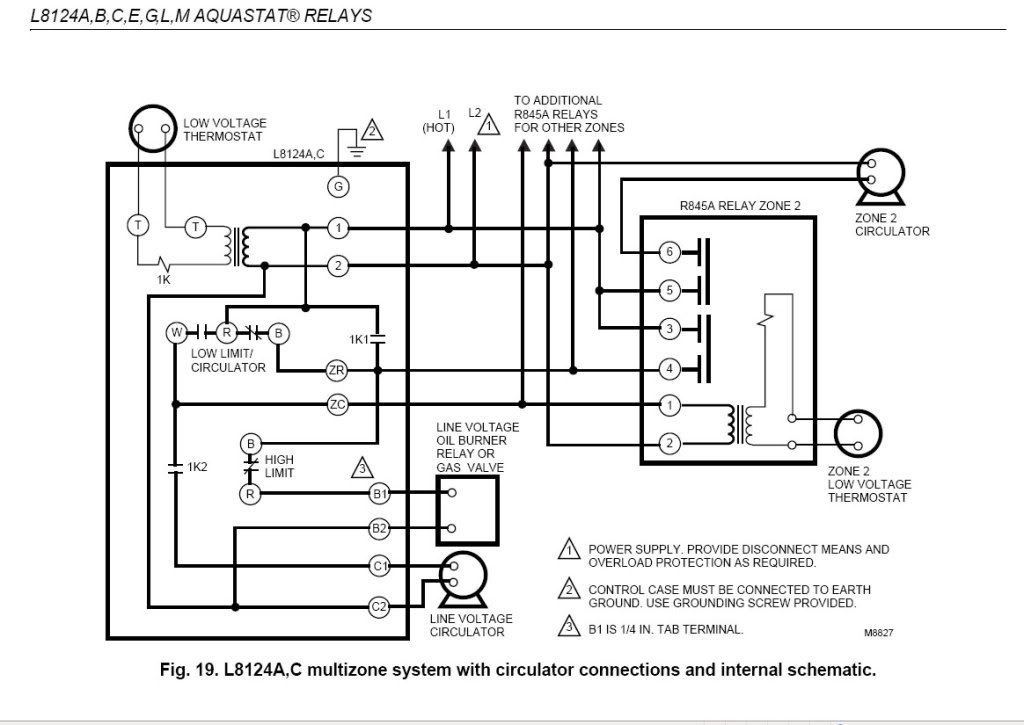 honeywell boiler aquastat wiring diagram