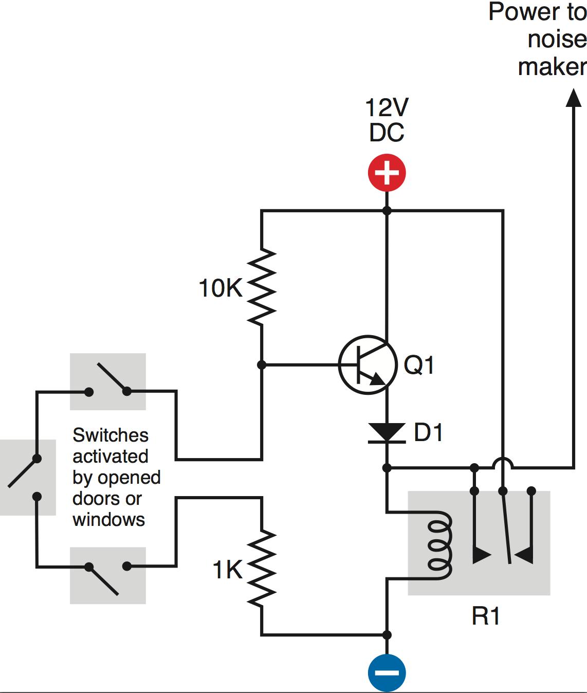 transistor wiring relay