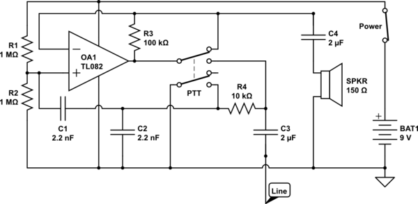 simple amplifier schematic