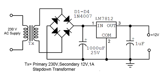 block diagram of 5 volt power supply