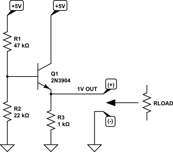circuitlab transistor voltage divider