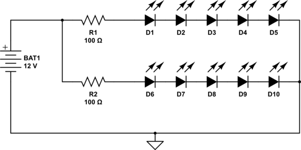 wiring leds in parallel calculator