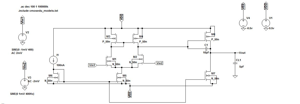 operational amplifier - Harmonic distortion in sub threshold 2 stage