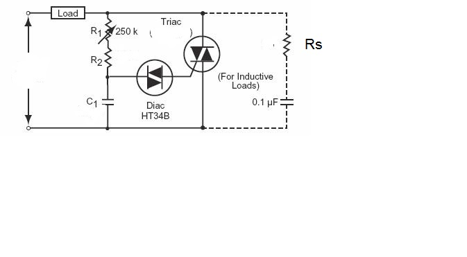 speed controller circuit for ac motor