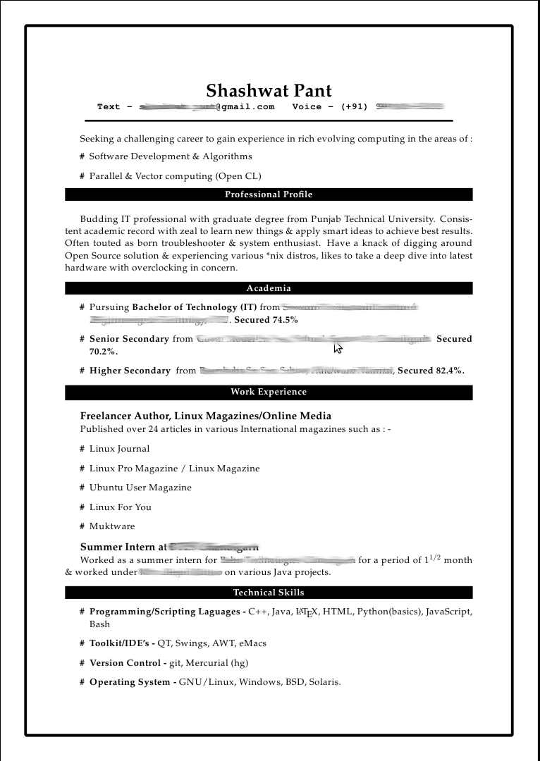 reference page for resume