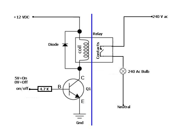 Ac Relay Wiring Diagram Electronic Schematics collections
