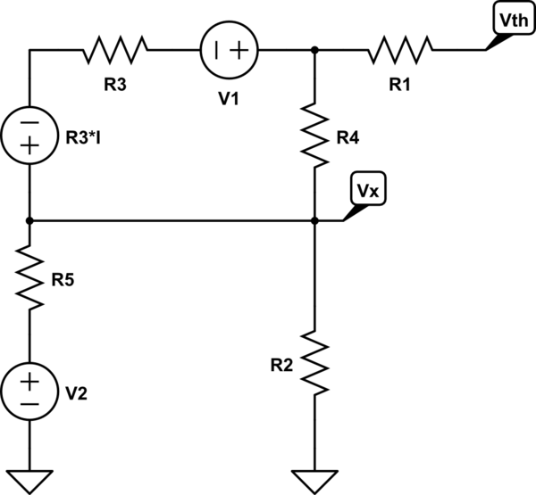 here is the equivalent circuit schematic