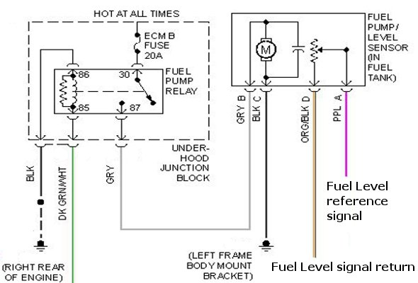 2001 Chevy Tahoe Fuel Pump Wiring Diagram - Schematics Data Wiring