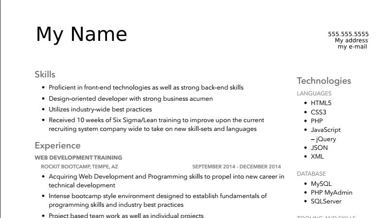 teamwork bullet point resume samples