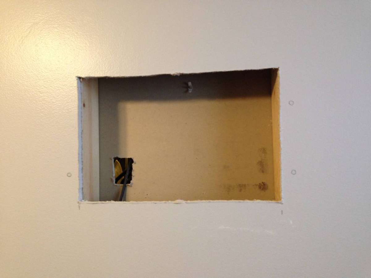 Drywall Studs How To Cut Drywall Over Stud Home Improvement Stack