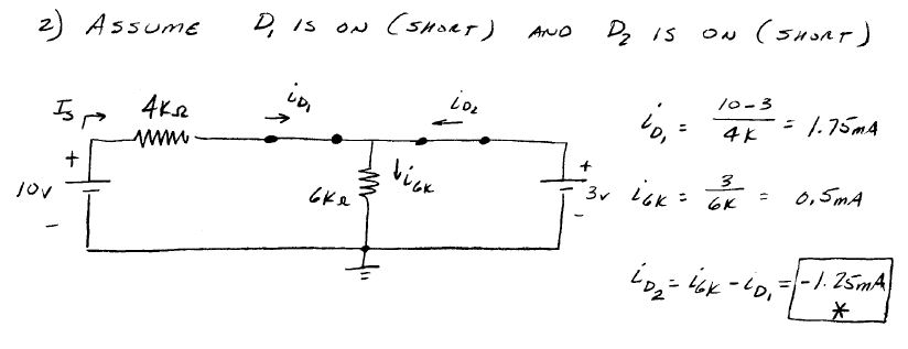 homework and exercises - Simple circuit with mesh current Two