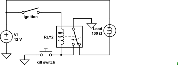 simple relay latch circuit would do