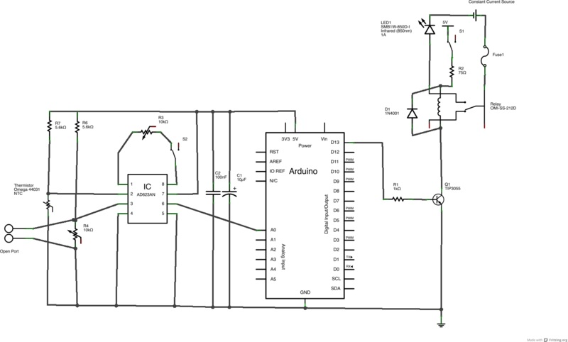 thermistor circuit schematic