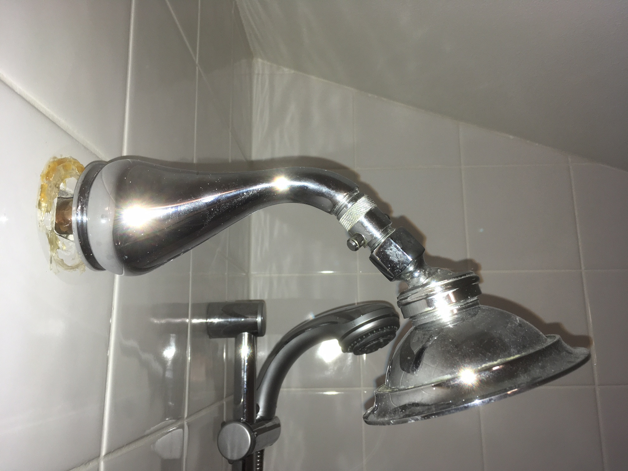 Shower Arm Thread Sticking Out Of Wall Is Too Long Home Improvement Stack Exchange