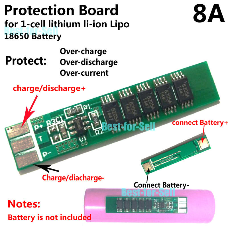 Is there way to construct an 18650 battery pack with built-in
