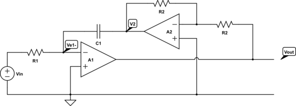 non inverting integrator circuit using op amp