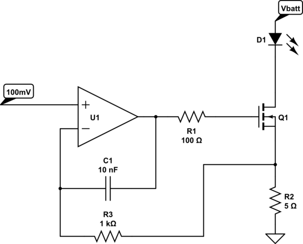 constant current circuit using led