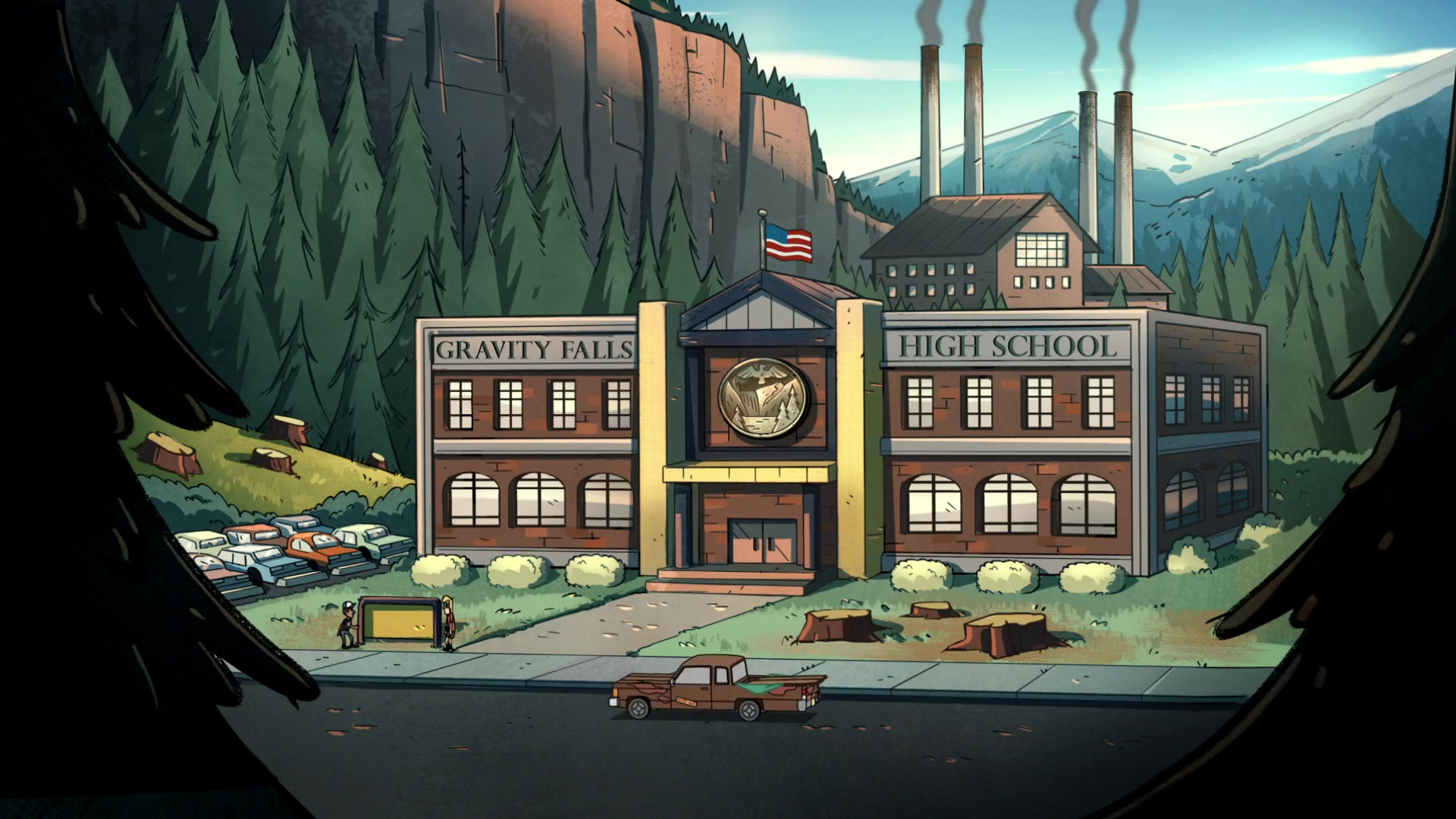 Gravity Falls All Characters Wallpaper How Big Is The Town Of Gravity Falls Science Fiction