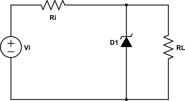 power supply circuit diagram using zener diode