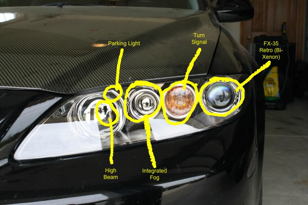 2006 mazda 6 headlight wiring