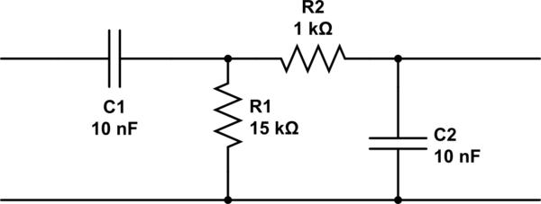 rc high pass filter circuit