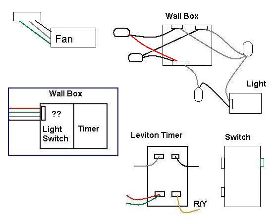wiring bathroom fan timer switch