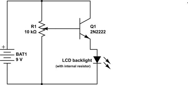 the resistor dimmer circuit backward workshop