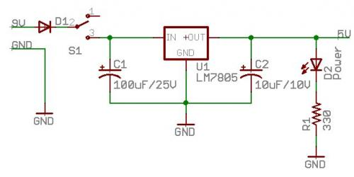 schematics - What do the capacitors on IN and OUT of an LM7805