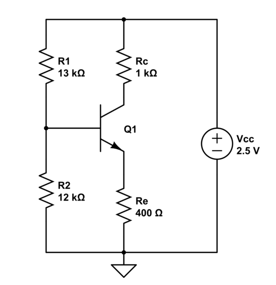 voltage divider bias circuit of a bjt