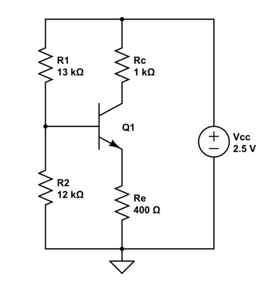voltage divider bias circuit of a bjt