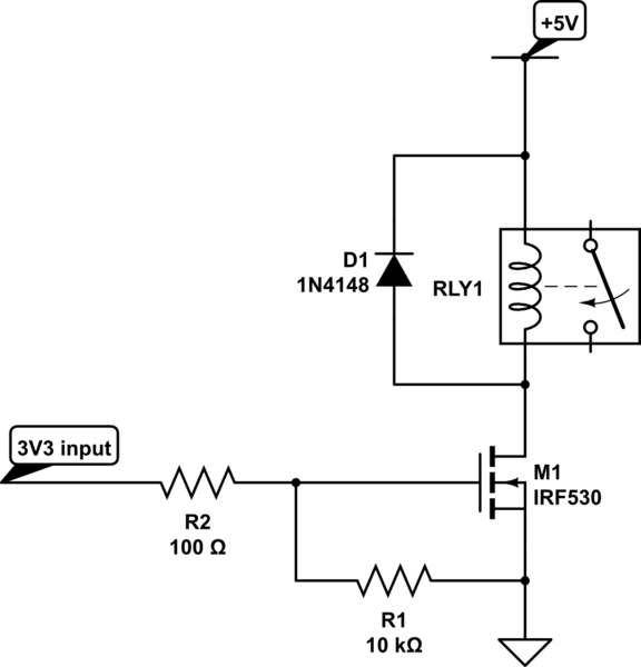 mosfet relay circuit