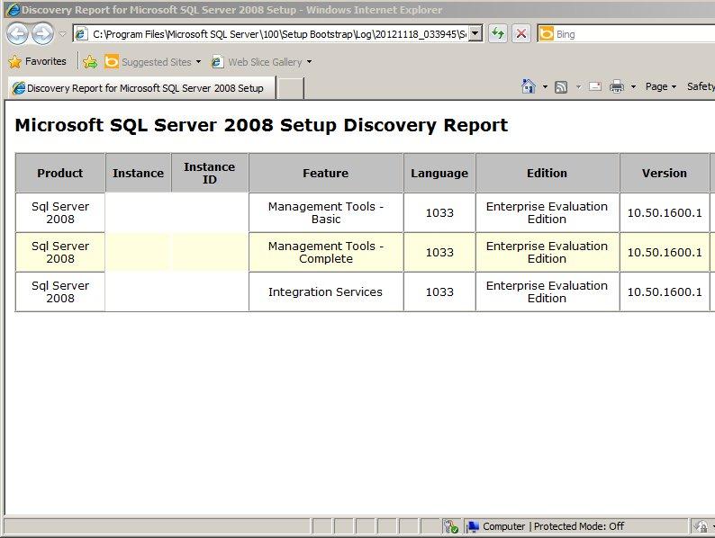 SQL Server 2008 R2 Management Studio  \