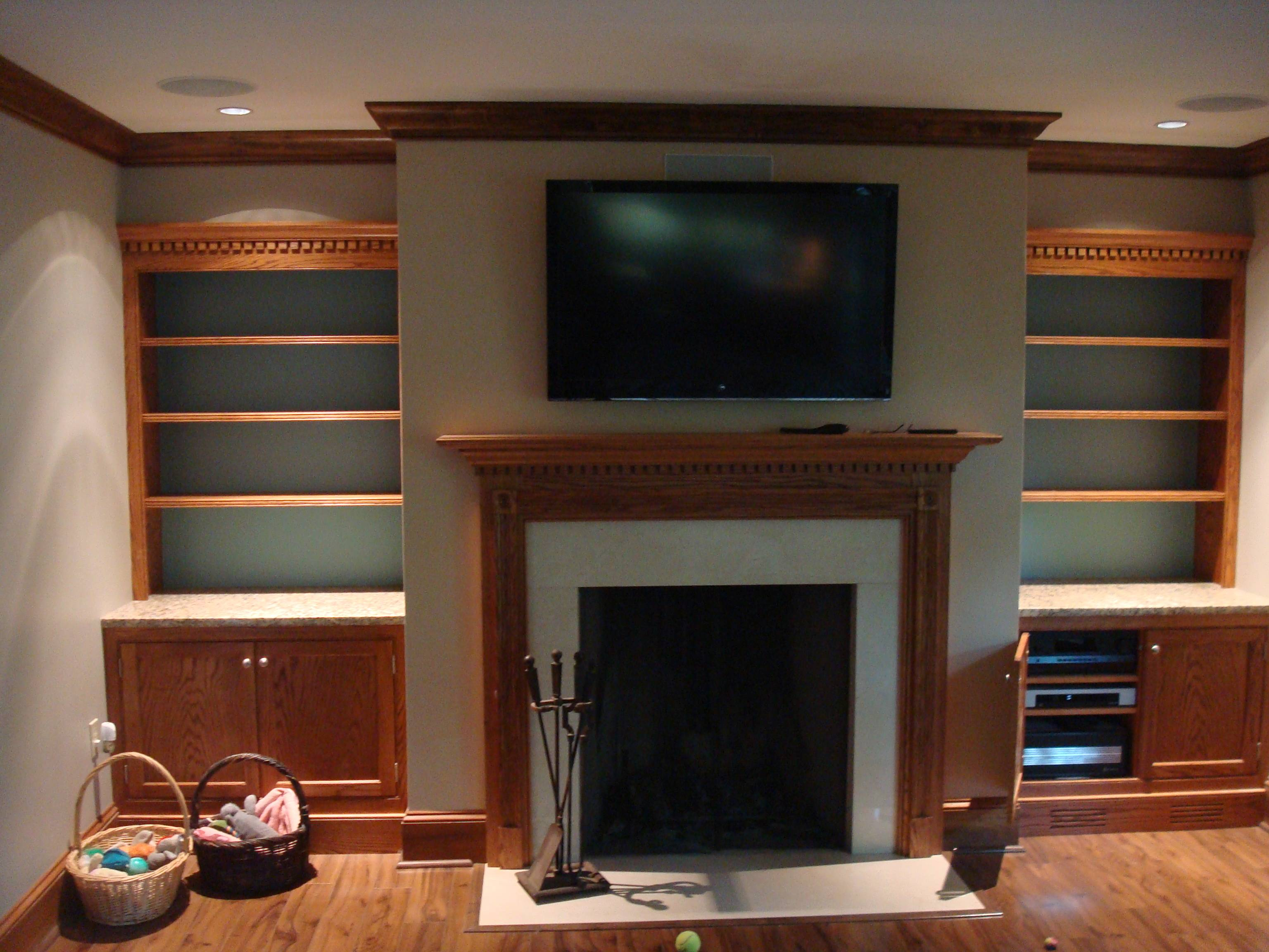 Wood Wall Behind Tv How Do I Mount A Tv On A Solid Wood Wall Home Improvement Stack