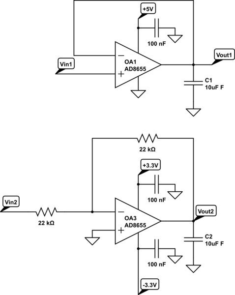 op amp inverting buffer with opamps electrical engineering stack