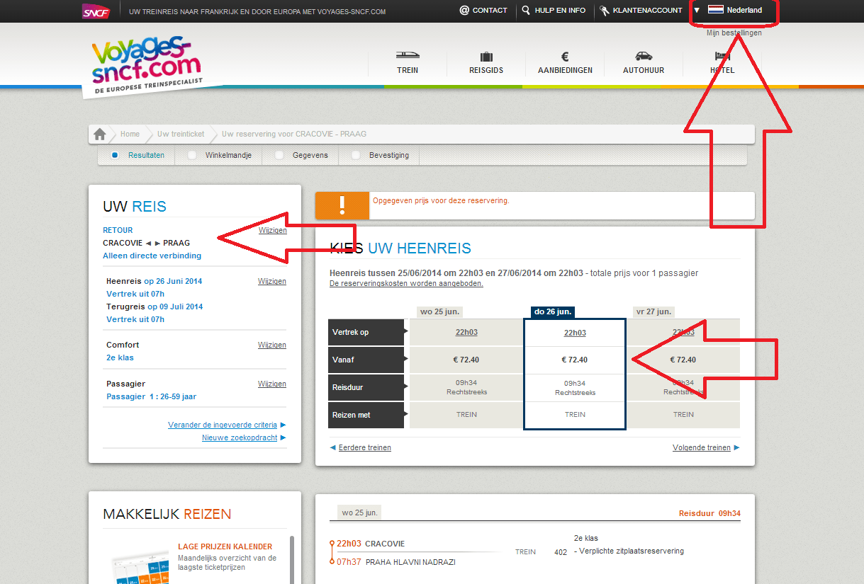 Booking Site Where To Buy An Electronic Ticket For The Train From Krakow To