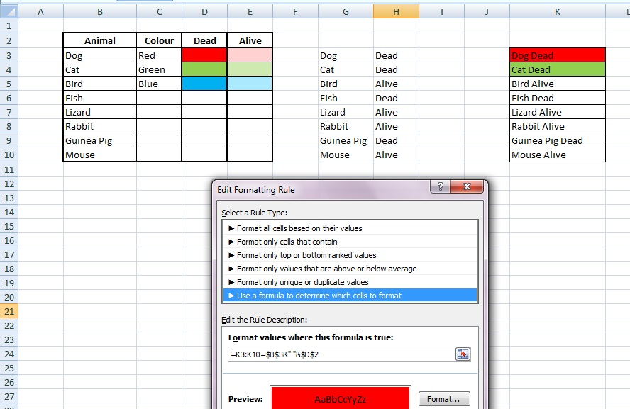 excel - Conditional Formatting using VBA, Dynamically styling a