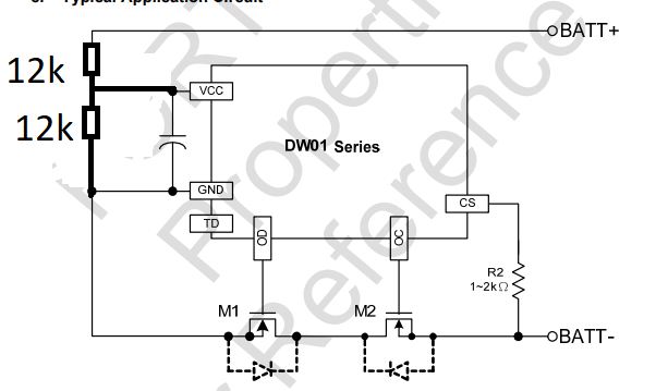 picture of 18650 protection circuit
