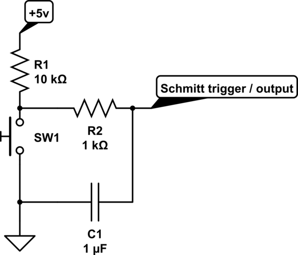 momentary switch circuit schematic